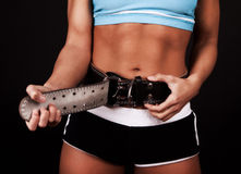 Picture of fasten gym belt Stock Photo