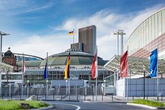 Frankfurt Fair Festhalle Messe in Germany Stock Image