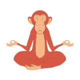 Picture fiery monkey Stock Image