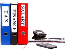 Files, economy, documents, banking, money and savings Plan. A picture for the finance and business world Royalty Free Stock Images