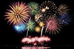 Fireworks bursting Royalty Free Stock Image