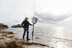 Picture of fisherman Royalty Free Stock Images