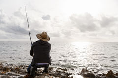 Picture of fisherman Royalty Free Stock Photo