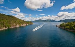 The picture of a fjord. Landscape royalty free stock image