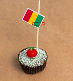 Picture of flag of mali on a cupcake Stock Photography