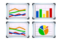 Picture of flipchart set Royalty Free Stock Photo