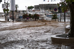 Picture of the Flodding in Cassis Sep 13 Royalty Free Stock Images