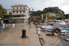 Picture of the flodding inodation in Cassis Sep 13 Royalty Free Stock Photography