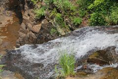 Water Flowing and Going Down to Big Ditch stock images