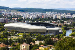 Picture football stadium in Cluj-Napoca. Romania Stock Photo