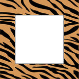 Picture frame. Illustration of picture frame using tiger skin stripes royalty free illustration