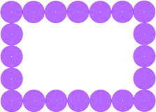 Picture frame. Purple color circle frame/border Royalty Free Stock Photo