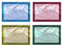 Picture frame. Colourful picture frame collection isolated on white background Royalty Free Stock Photos