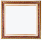 Picture frame. With decorations isolated on white Royalty Free Stock Photography