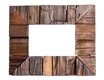 Picture frame. An empty wooden frame, isolated on white Royalty Free Stock Photography