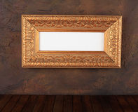 Picture frame. Ancient structure on a wall royalty free stock photos