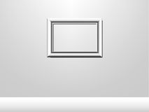 Picture frame. Vector picture of white wall with picture frame royalty free illustration