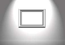 Picture frame. Picture of whire wall with picture frame royalty free stock images