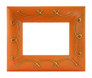 Picture frame. A picture frame on a white background stock image