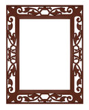 Picture frame. Classic picture frame with white space for your text or image stock illustration