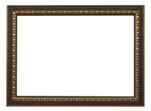 Picture frame. Wood plated, white background Royalty Free Stock Images