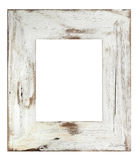 Picture Frame. Distressed white painted picture frame.  Weathered white timber Royalty Free Stock Photos