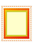 Picture-frame. Samples for a picture with twisted frame in the color red, yellow, green, brown, orange, white Royalty Free Stock Images