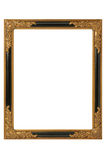 Picture frame. Old golden barock picture frame with ornaments Royalty Free Stock Photography