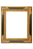 Picture frame. Old golden barock picture frame with ornaments Stock Photography