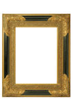 Picture frame. Old golden barock picture frame with ornaments Royalty Free Stock Image