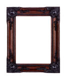 Picture frame. Isolated on white made from mahogany wood Royalty Free Stock Images
