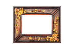 Picture frame. Wood picture frame Isolated On White With Clipping Path Stock Photo