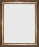 Picture frame. Old golden picture frame on white Stock Photo