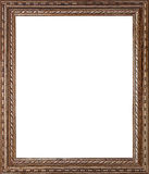 Picture frame. Old golden picture frame on white Royalty Free Stock Photos