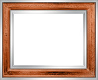 Picture Frame. A metallic picture frame with gilded wood inlay Stock Images