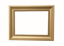 Picture frame. A rectangular wooden picture frame Stock Photography