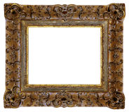 Picture frame. Gold square antique picture frame cutout art craft Royalty Free Stock Images