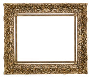 Picture frame. Gold square antique picture frame cutout art craft Stock Photography