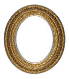 Picture frame. Gold oval antique picture frame cutout art craft Stock Image