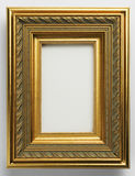 Picture Frame. Antique gold ornate picture frame on white Royalty Free Stock Photos
