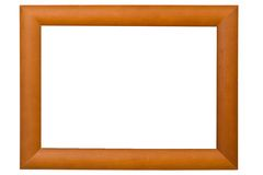 Picture frame. Empty wooden picture frame isolated on white background Royalty Free Stock Photo