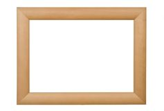 Picture frame. Empty wooden picture frame isolated on white background Stock Image