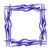 Picture frame. In blue and white background Stock Photo