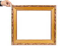 Picture frame. And hand with white background stock images