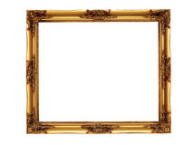 Picture frame. A Picture frame in golden color stock photo