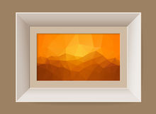 Picture frame with abstract mountain landscape Stock Photography