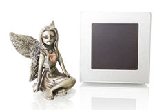 Picture frame with an angel Stock Images