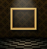 Picture frame in baroque interior style Royalty Free Stock Image