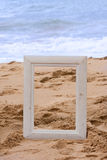 Picture frame beach Stock Images
