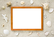 Picture frame with beach theme Royalty Free Stock Photo